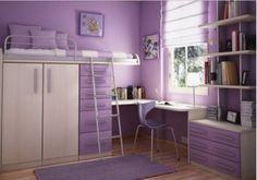 En lila, espacios pequeños