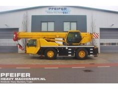 Used telescopic crane available at Pfeifer Heavy Machinery. Item Number PHM-Id 07334, Model AC35 Year of construction 2002, Kilometers 131956, Hours 4511, Loading (lifting) capacity (kg) 35000, Boom length maximum (m) 30, Fuel Diesel. More cranes at http://www.pfeifermachinery.com.
