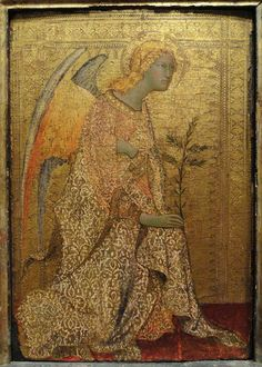 The Angel of the Annunciation by Simone Martini, c. tempera on panel - National Gallery of Art, Washington - Martini, National Gallery Of Art, Image Painting, Figure Painting, Wall Art Pictures, Pictures To Paint, Painting Pictures, Pictures Images, Angel Artwork