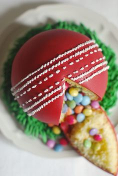 I can't say I've ever watched a whole (or even half) of a cricket match. It's definitely not my sp Cricket Birthday Cake, Cricket Theme Cake, 14th Birthday Cakes, Themed Birthday Cakes, 11th Birthday, Themed Cakes, Birthday Party Decorations, 7 Cake, Pinata Cake