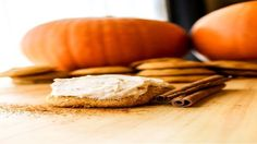 Pumpkin Cookies with Cinnamon Cream Cheese Icing