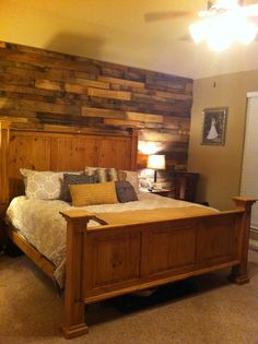 Pallet wall looks awesome!  Would love to do this for wall outside bath at barn!