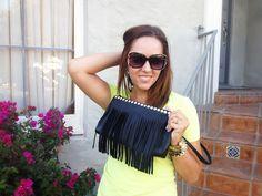 DIY fringe purse