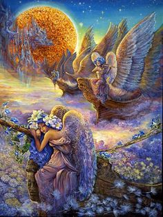 Josephine Wall Zodiac | CES IMAGES FEERIQUES SONT PEINTES PAR JOSEPHINE WALL...CES PEINTURES ...