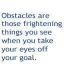 Job Seeker - Career Planning - Setting Goals - Identifying Obstacles