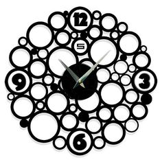 Modern clock Black clocks Unique wall clocks  by ModernWallClock. , via Etsy.