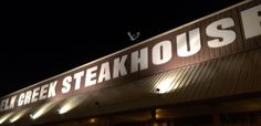 Great steak, but no lack of live stock around ; Great Steak, Cool Photos, Neon Signs, Live