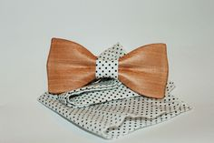 wooden bow tie, solid wooden bowtie, wooden clip-on bow tie, brown wood bow tie #Handmade #BowTie
