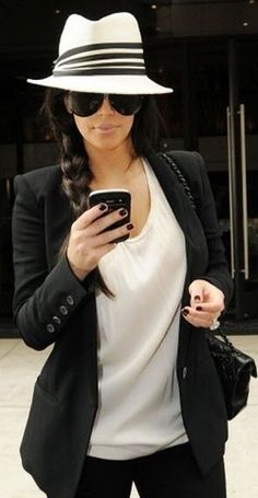 Kim Kardashian…love the braid with the hat