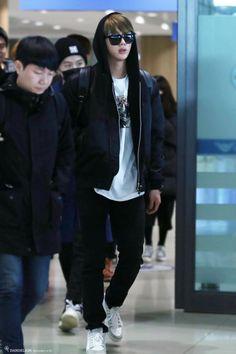 [AIRPORT] 160120: BTS Jin (Kim Seokjin) #bts #bangtanboys #bangtan #fashion #style #kfashion #kstyle #korean #kpop