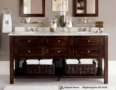 Pottery Barn Bathrooms Ideas benchwright double sink console, wax pine finish | double sinks