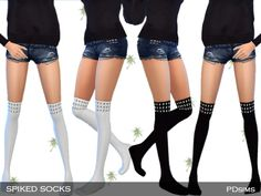 The Sims Resource: Stud Socks by PDSims • Sims 4 Downloads