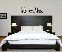 Mr and Mrs Decal  Mr and Mrs Wall Decal in Variety by iheartdecals, $6.99