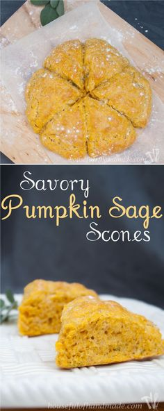 I love putting pumpkin in savory dishes. These pumpkin sage scones are perfect for a cold fall evening. Recipe on http://housefulofhandmade.com.