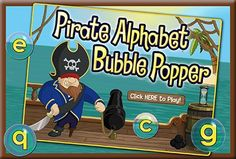 Ahoy, mateys!  Young learners, come aboard and practice recognizing alphabet letters with Pirate Alphabet Bubble Popper! Practicing the names and sounds of letters is especially important for younger learners, so today we're releasing this new alphabet bubble popping game. Log in to ABCmouse.com to play