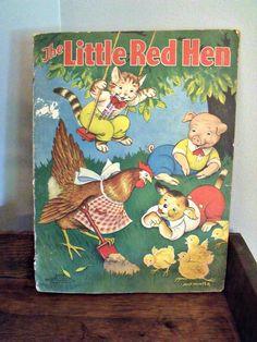 The Little Red Hen  Milo Winter  1938  Merril by wonderdiva, $18.00
