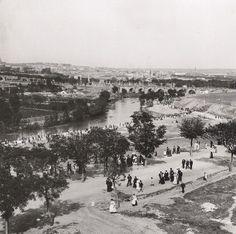 Manzanares,pradera de san Isidro y puente de Toledo, (1906):