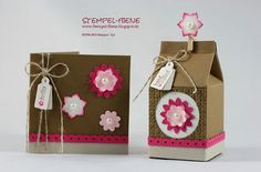 Stanze Boho-Blüten, Tiny Tags, Bigz Mini-Milchkarton, Stampin' Up!, Stempel-Biene,