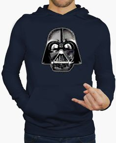 Darth Vader Techy Art Hombre, jersey con capucha, azul marino May The 4th Be With You
