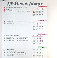 a Glance - BujoYear at a Glance - Bujo These Floral Bullet Journal Ideas Will Bring Out The Romantic In You Romantic Bedroom Decorating Ideas Cheap Bullet Journal Year At A Glance, Bullet Journal Yearly Spread, Bullet Journal Page, Bullet Journal Inspiration, Journal Ideas, Bullet Journals, Bullet Journal Layout Templates, Bullet Journal Printables, Bujo Inspiration