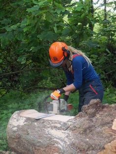 carving a wooden bench