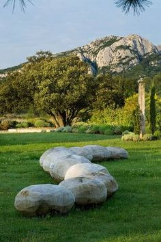 CARVING OUT THE LANDSCAPE The first full garden design by Provençal sculptor, Marc Nucera Photo by Clive Nichols