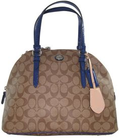 Coach Peyton Cora Domed Satchel Tote Crossbody Bag Handbag Khaki Blue 24606 Coach,http://www.amazon.com/dp/B00IH7ENM4/ref=cm_sw_r_pi_dp_OhZotb0MHS233PDQ
