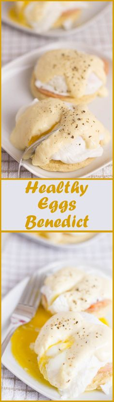 The delicious and classic eggs benedict brunch given a healthy makeover with a creamy yogurt hollandaise sauce, healthier turkey bacon and with quick English home-made muffins. Making it a healthy eggs benedict!