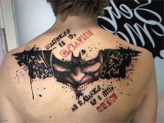 Trash polka Batman Joker tattoo from Blanka - Selfmade Tattoo Berlin selfmade-ta. - Trash polka Batman Joker tattoo from Blanka – Selfmade Tattoo Berlin selfmade-tattoo. New Tattoos, Hand Tattoos, Sleeve Tattoos, Cool Tattoos, Dc Tattoo, Awesome Tattoos, Tattoo Arm, Small Back Tattoos, Small Tattoos For Guys