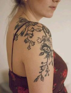19 Best Vine Flower Tattoo Images Flower Vine Tattoos Flowering