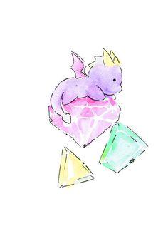 Wee Spyro's Gems by MeepPaintings on Etsy, $3.50