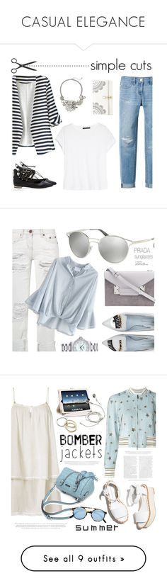 """""""CASUAL ELEGANCE"""" by k-hearts-a ❤ liked on Polyvore featuring White House Black Market, WithChic, MANGO, Catherine Stein, Lipsy, Prada, Chicwish, Sophie Hulme, Chiara Ferragni and Longines"""