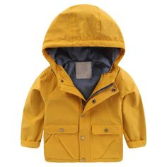 Terryws New Children'S Hooded Jackets Boys Hoodie Zipper Windbreaker Long Sleeve Casual Outerwear Clothes For Kids 2-7 Years Yellow 5. Appropriate for Spring, Autumn, Summer. Machine Wash, Made from good quality material, comfortable to wear. All size is Asian size which is smaller than US/EU size. We never use the Amazon size chart. Any size question you could email to us.