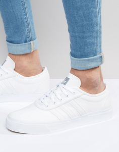adidas+Originals+Adi-Ease+Leather+Trainers+In+White+D69229