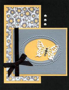 Butterfly Card .....Beautiful layout.... dianesexploration.blogspot.com