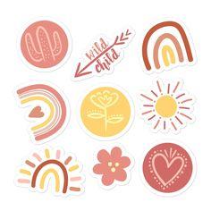 Boho stickers