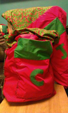 Santa sacks made for my boys