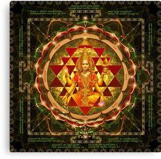 Shri Yantra- Maha Lakshmi Ashtakam- Abundance Canvas Print