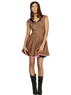 Smiffy's USA - Fever Wild West Women's Costume - Costumes - Available in sizes - Large, Medium, Small Sexy Dresses, Sexy Party Dress, Halloween Costumes For Teens, Costumes For Women, Halloween Party, Teen Costumes, Woman Costumes, Couple Costumes, Pirate Costumes