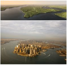 1609 NYC vs. 2009 NYC: Wonder how the landscape remained intact