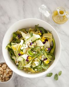 This is one of my very favorite salad recipes, and also one of the simplest. And it celebrates the fact that it's almost zucchini season!! Since Easter is approaching, thought it would be fun to sh...