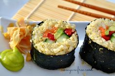 Vegan Quinoa Sushi from Devin @ Nom Yum & Free