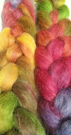 Wool Roving  PLUM FOREST Devon Wool by rosyretro on Etsy, £8.45