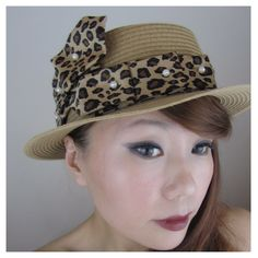 Leopard Straw Hat from wow.teoel.com        free shipping worldwide!