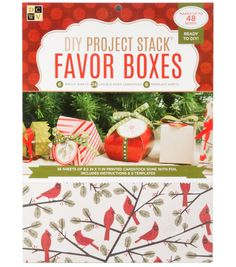 "DCWV 8-1/2""x11"" Project Stack: Christmas Favor Boxes"