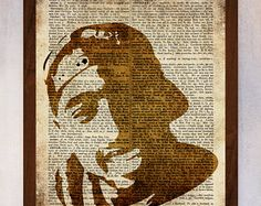 Tupac Art Print, Tupac Wall Art, Book Page Print, Dictionary Page Print, Tupac Printable, Hip Hop Print Art, Tupac Portrait Art, Hip Hop Art
