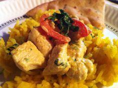 Kylling tandoori med korianderris Meat, Chicken, Dessert, Food, Deserts, Essen, Postres, Meals, Yemek