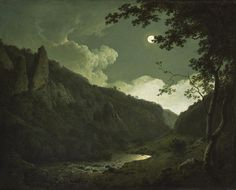 Dovedale by Moonlight, ca 1784-1785, Joseph Wright. English (1734 - 1797)