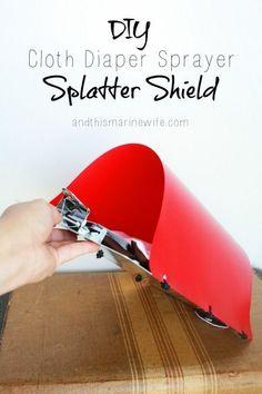 DIY Cloth Diaper Sprayer Splatter Shield | And This Marine Wife