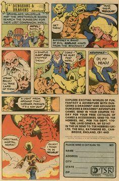 Kuronons': D&D comics history part 1 - Cartoon ads